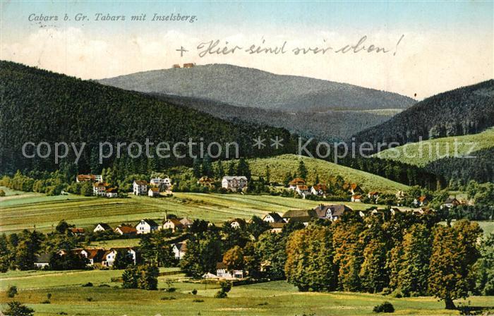 AK / Ansichtskarte Cabarz mit Inselsberg Cabarz 0