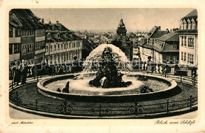 AK / Ansichtskarte Gotha_Thueringen Blick vom Schloss Gotha Thueringen