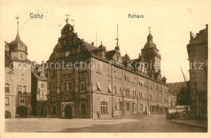 AK / Ansichtskarte Gotha_Thueringen Rathaus Gotha Thueringen 0