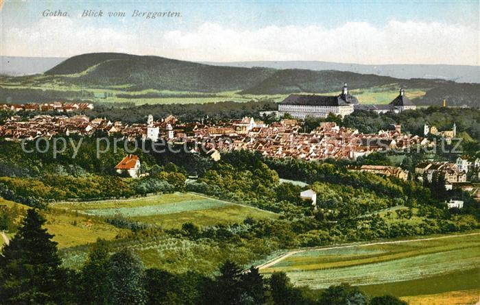 AK / Ansichtskarte Gotha_Thueringen Blick vom Berggarten Gotha Thueringen 0