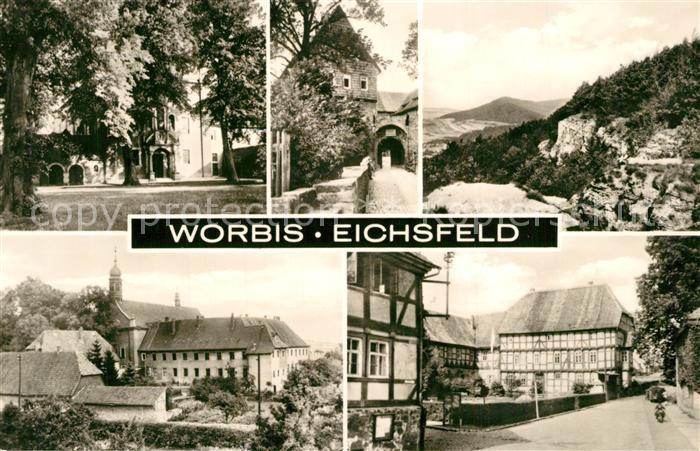 AK / Ansichtskarte Worbis Teilansichten Schloss Fachwerkhaeuser Worbis 0