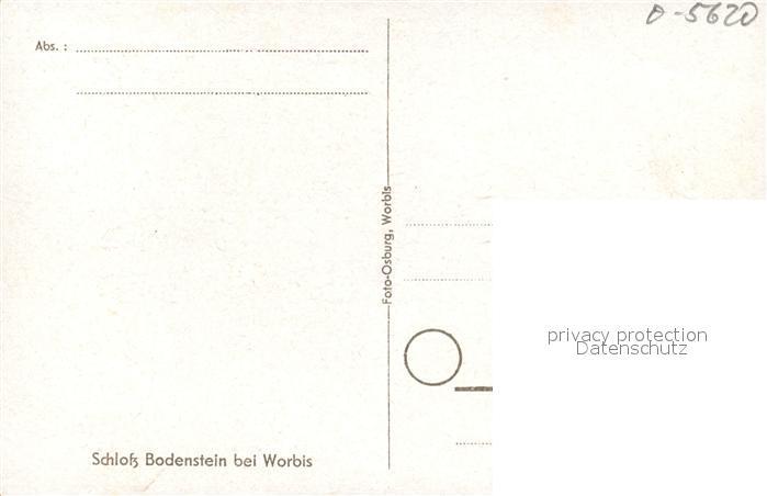 AK / Ansichtskarte Worbis Schloss Bodenstein Worbis 1