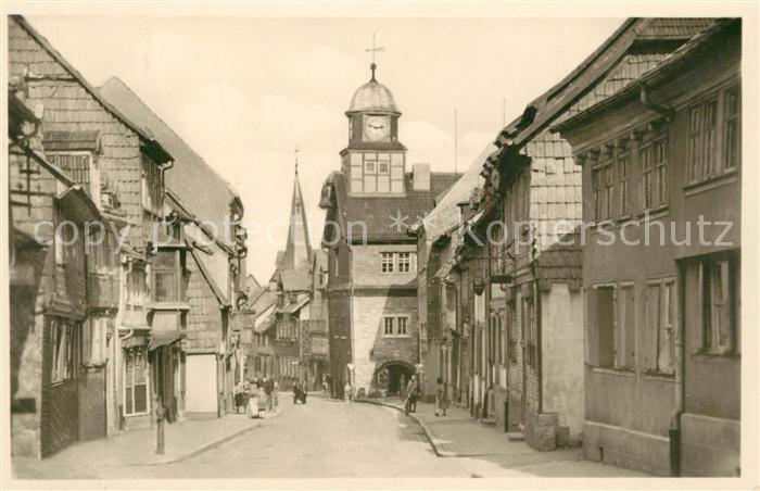 AK / Ansichtskarte Bleicherode Maxim Gorki Strasse mit Rathaus Bleicherode