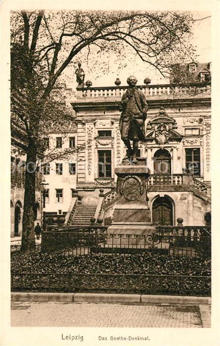 AK / Ansichtskarte Leipzig Goethe Denkmal Leipzig 0