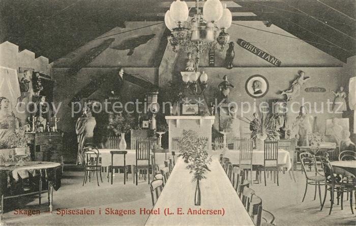AK / Ansichtskarte Skagen Speisesaal Hotel Skagen 0