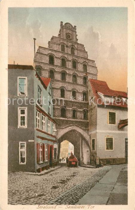 AK / Ansichtskarte Stralsund_Mecklenburg_Vorpommern Semlower Tor Stralsund_Mecklenburg 0