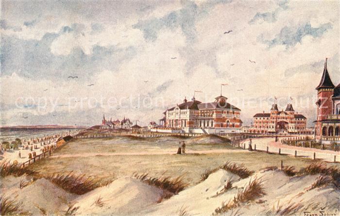 AK / Ansichtskarte Fanoe Strand Hotel Kuenstlerkarte Fanoe 0