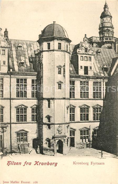 AK / Ansichtskarte Kronborg_Slot Turm Kronborg Slot 0