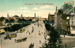AK / Ansichtskarte Kobenhavn Vesterbrogade Strassenbahn Kobenhavn