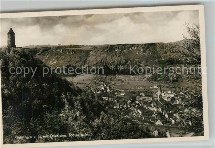 AK / Ansichtskarte Geislingen_Steige Panorama Blick ins Tal oedenturm Schwaebische Alb Geislingen_Steige