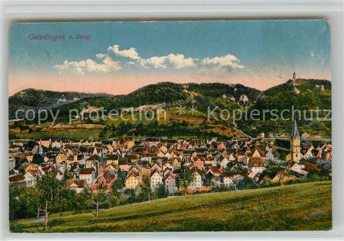 AK / Ansichtskarte Geislingen_Steige Panorama mit Blick zum oedenturm Schwaebische Alb Geislingen_Steige