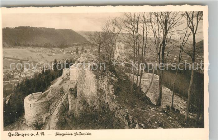 AK / Ansichtskarte Geislingen_Steige Burgruine Helfenstein Schwaebische Alb Geislingen_Steige