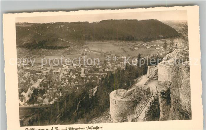 AK / Ansichtskarte Geislingen_Steige Burgruine Helfenstein Schwaebische Alb Blick ins Tal Geislingen_Steige