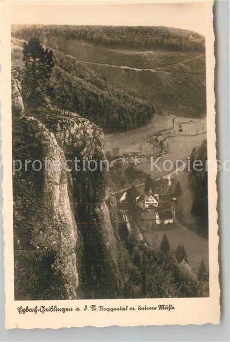 AK / Ansichtskarte Eybach_Geislingen_Steige Blick ins Roggental mit unterer Muehle Felsen Schwaebische Alb Eybach_Geislingen_Steige 0