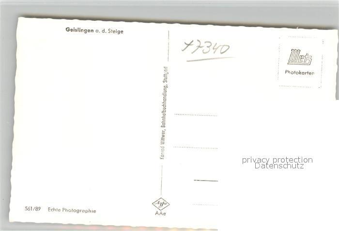 AK / Ansichtskarte Geislingen_Steige Fliegeraufnahme Geislingen_Steige 1
