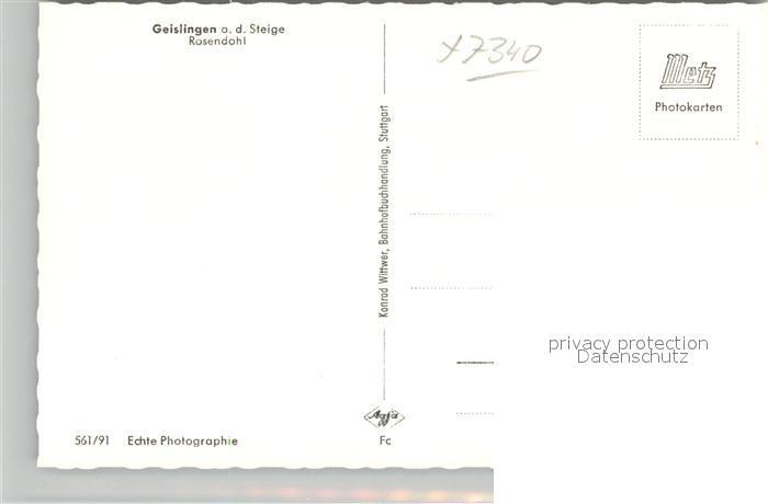 AK / Ansichtskarte Geislingen_Steige Rosendohl Geislingen_Steige 1