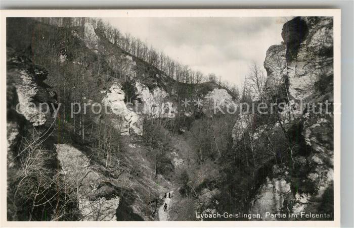 AK / Ansichtskarte Eybach_Geislingen_Steige Partie im Felsental Schwaebische Alb Eybach_Geislingen_Steige