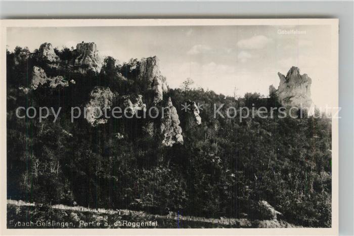 AK / Ansichtskarte Eybach_Geislingen_Steige Partie im Roggental Felsen Eybach_Geislingen_Steige