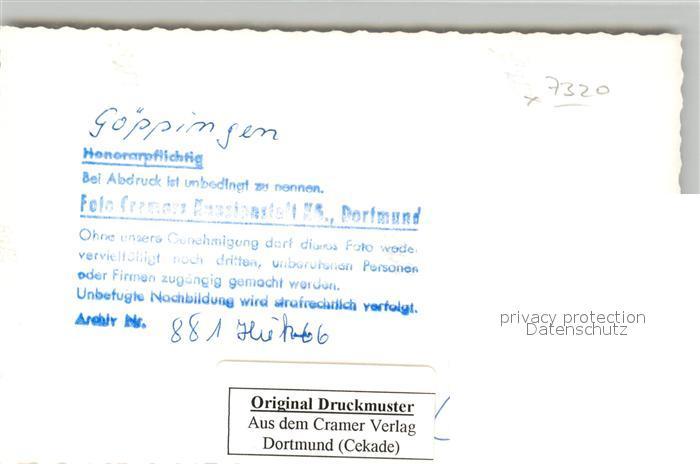 AK / Ansichtskarte Goeppingen Kirche Goeppingen 1