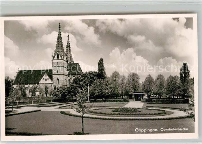 AK / Ansichtskarte Goeppingen Oberhofenkirche Park Brunnenhaus Goeppingen