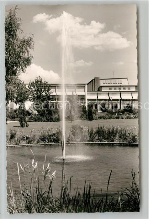 AK / Ansichtskarte Goeppingen Stadthalle Gaststaette Parkanlagen Fontaene Goeppingen