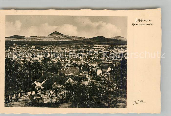 AK / Ansichtskarte Goeppingen Stadtpanorama mit Blick zum Hohenstaufen Goeppingen