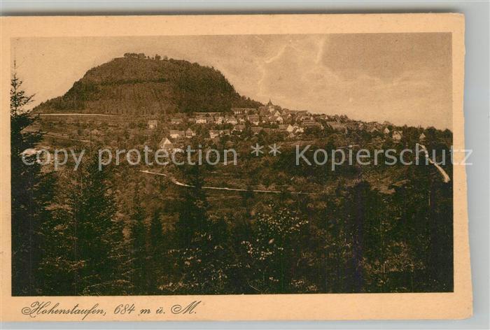 AK / Ansichtskarte Hohenstaufen Panorama Blick zum Berg Hohenstaufen Hohenstaufen