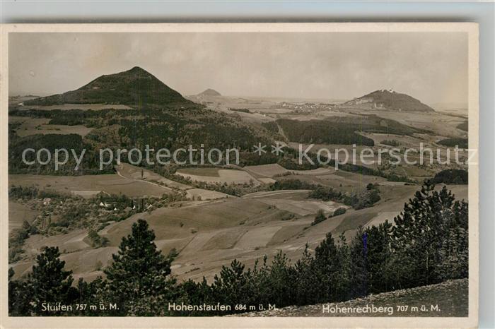 AK / Ansichtskarte Goeppingen Landschaftspanorama mit Stuifen Hohenstaufen Hohenrechberg Goeppingen