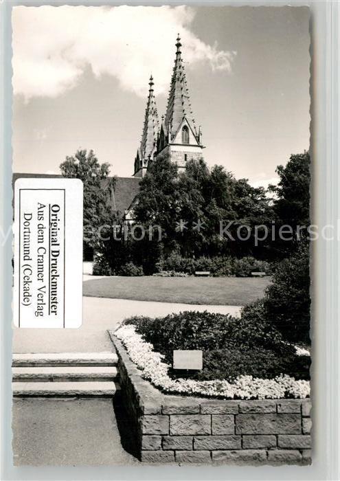 AK / Ansichtskarte Goeppingen Parkanlagen mit Blick zur Oberhofenkirche Goeppingen 0