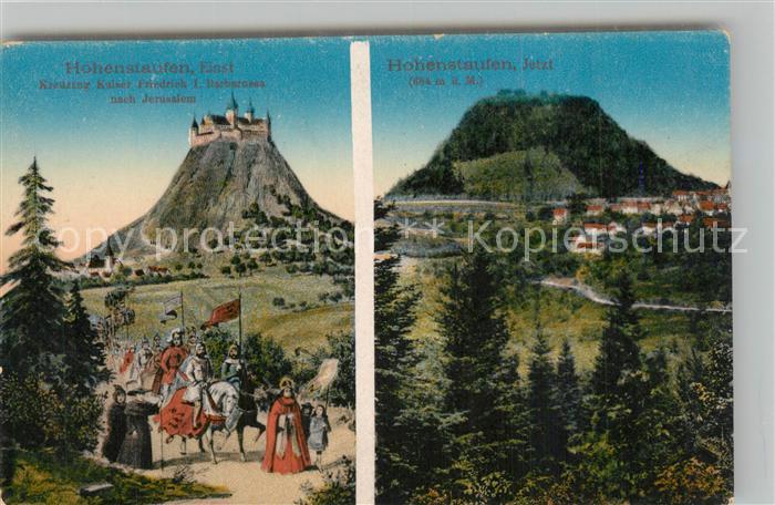 AK / Ansichtskarte Hohenstaufen Einst und Jetzt Hohenstaufen