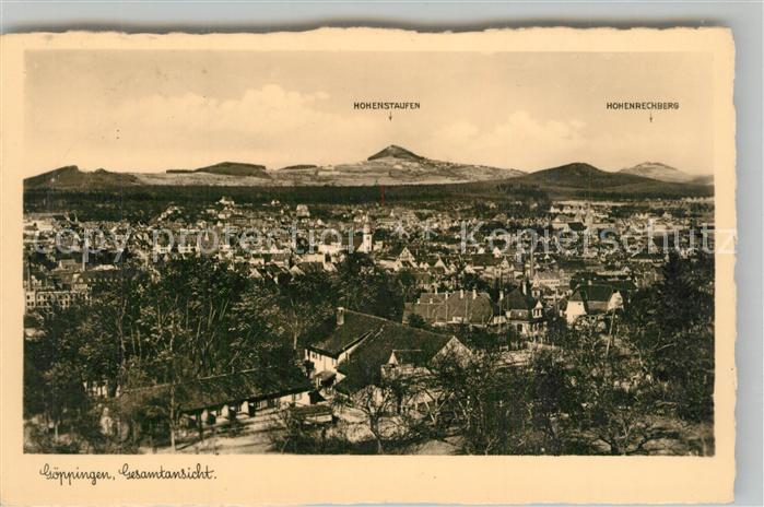 AK / Ansichtskarte Goeppingen Stadtpanorama mit Blick zum Hohenstaufen und Hohenrechberg Goeppingen 0