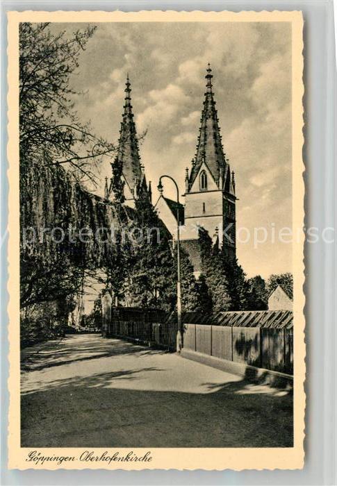 AK / Ansichtskarte Goeppingen Oberhofenkirche Goeppingen