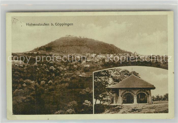AK / Ansichtskarte Goeppingen Landschaftspanorama mit Blick zum Hohenstaufen Schutzhuette Goeppingen