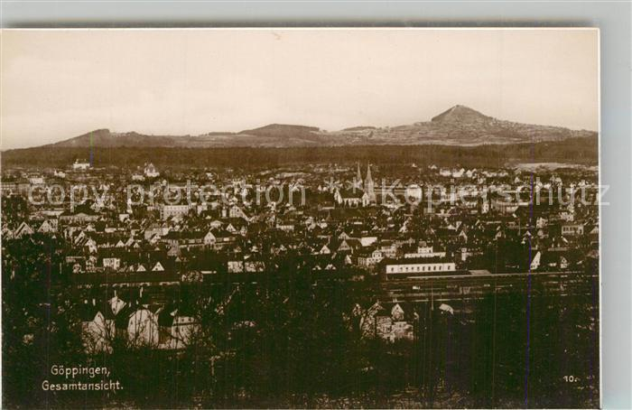 AK / Ansichtskarte Goeppingen Stadtpanorama mit Blick zum Hohenstaufen Trinks Postkarte Goeppingen 0