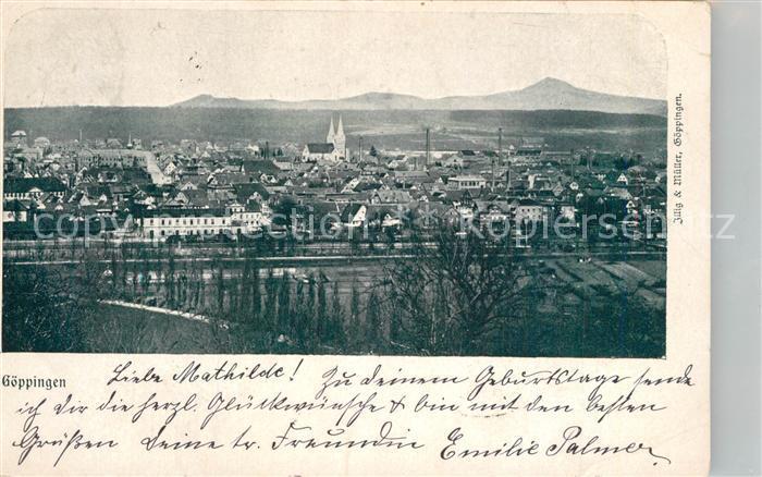 AK / Ansichtskarte Goeppingen Stadtpanorama mit Blick zum Hohenstaufen Goeppingen 0