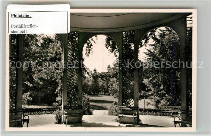 AK / Ansichtskarte Bad_Boll Kurhaus Park Stempel Posthilfstelle Bad_Boll