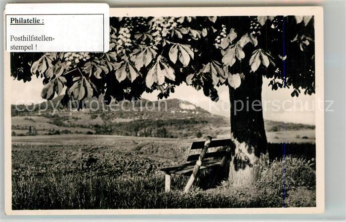 AK / Ansichtskarte Bad_Boll Der einsame Baum mit Aichelberg Stempel Posthilfstelle Bad_Boll