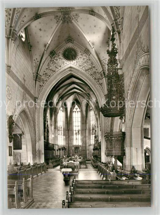 AK / Ansichtskarte Geislingen_Steige Stadtkirche Innenansicht Geislingen_Steige 0