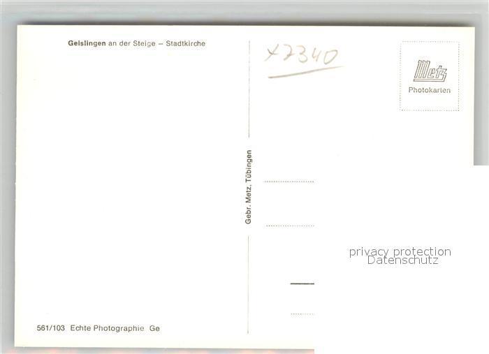 AK / Ansichtskarte Geislingen_Steige Stadtkirche Innenansicht Geislingen_Steige 1