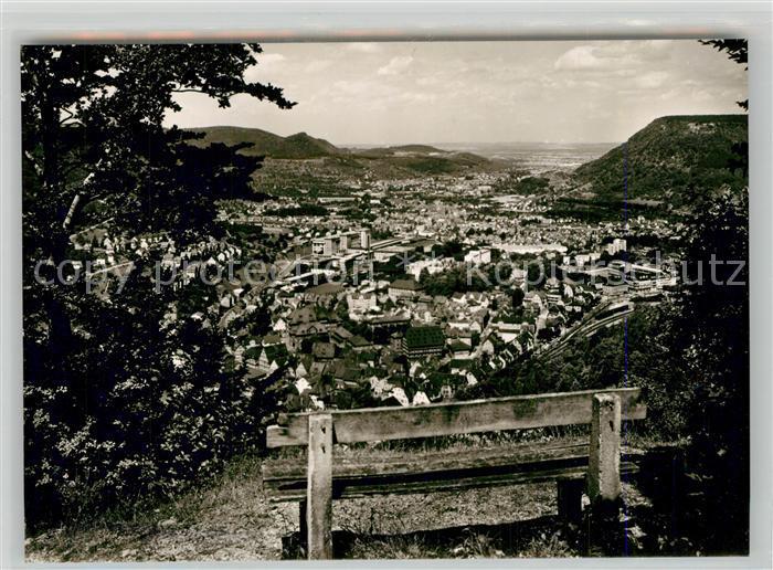 AK / Ansichtskarte Geislingen_Steige Panorama Blick vom oedenturm Schwaebische Alb Geislingen_Steige