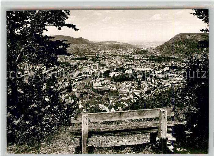 AK / Ansichtskarte Geislingen_Steige Panorama Blick vom oedenturm Schwaebische Alb Geislingen_Steige 0