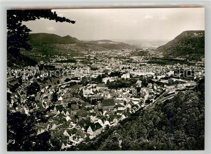 AK / Ansichtskarte Geislingen_Steige Panorama Blick ins Tal Schwaebische Alb Geislingen_Steige