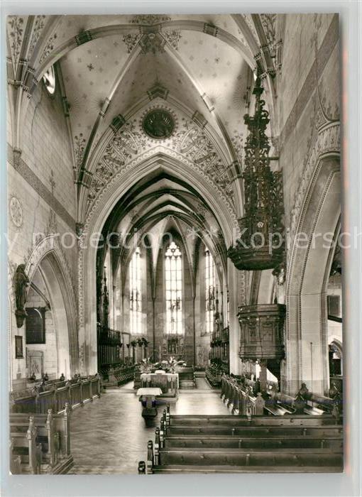 AK / Ansichtskarte Geislingen_Steige Stadtkirche Innenansicht Geislingen_Steige