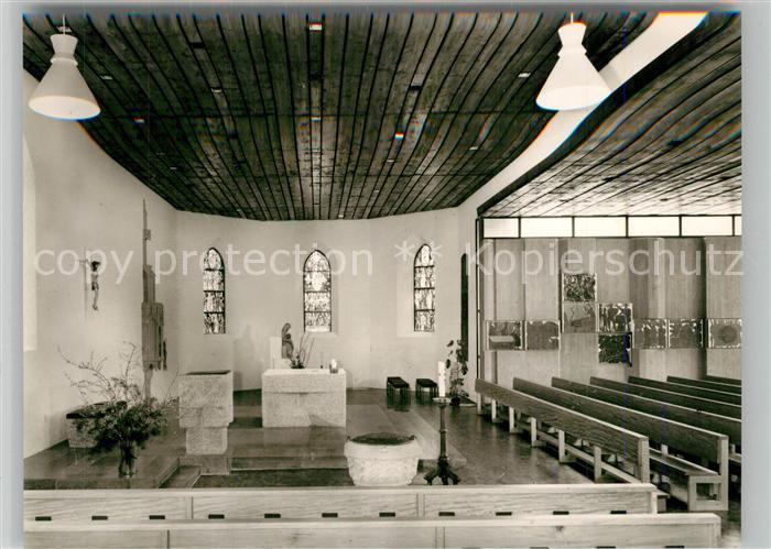AK / Ansichtskarte Eybach_Geislingen_Steige Katholische Kirche Innenansicht Eybach_Geislingen_Steige