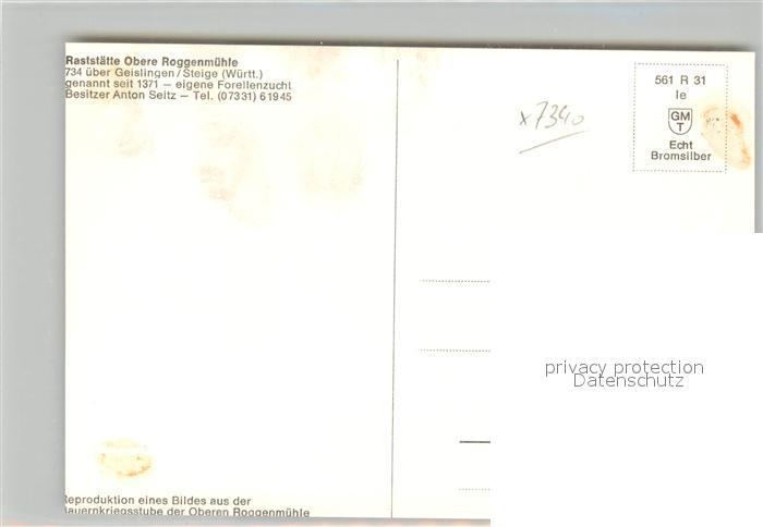 AK / Ansichtskarte Geislingen_Steige Bauernfuehrer Ritter Florian Geyer Bauernkrieg anno 1525 Kuenstlerkarte Raststaette Obere Roggenmuehle Bromsilber Geislingen_Steige 1