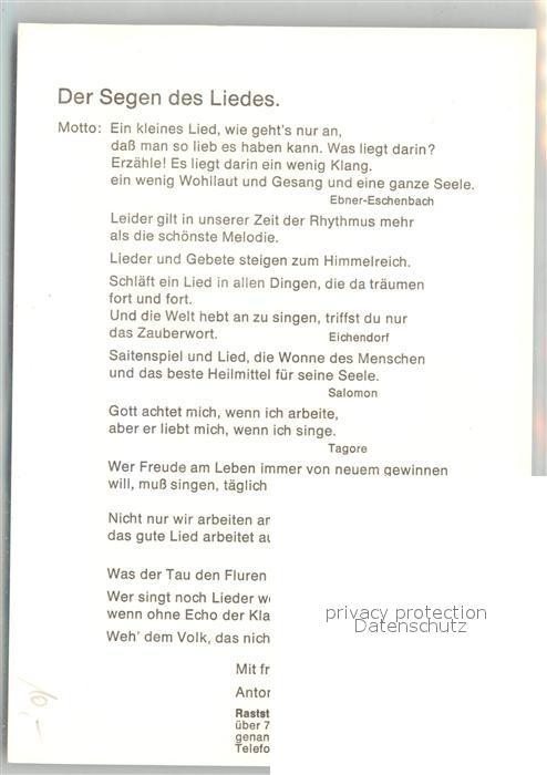 AK / Ansichtskarte Geislingen_Steige Raststaette Obere Roggenmuehle der Heckentoni Musikant Der Segen des Liedes Geislingen_Steige 1