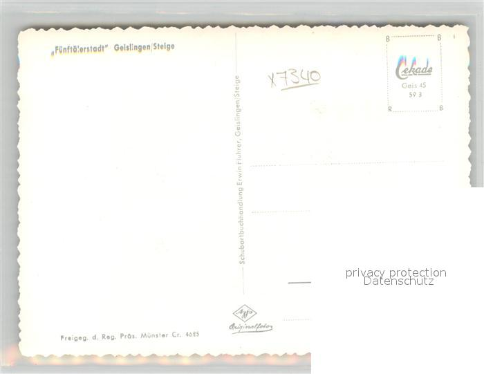 AK / Ansichtskarte Geislingen_Steige Fuenftaelerstadt Fliegeraufnahme Geislingen_Steige 1