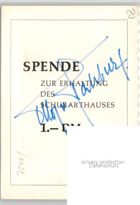 AK / Ansichtskarte Goeppingen Schubarthaus Zeichnung Kuenstlerkarte Spendenkarte Goeppingen 1
