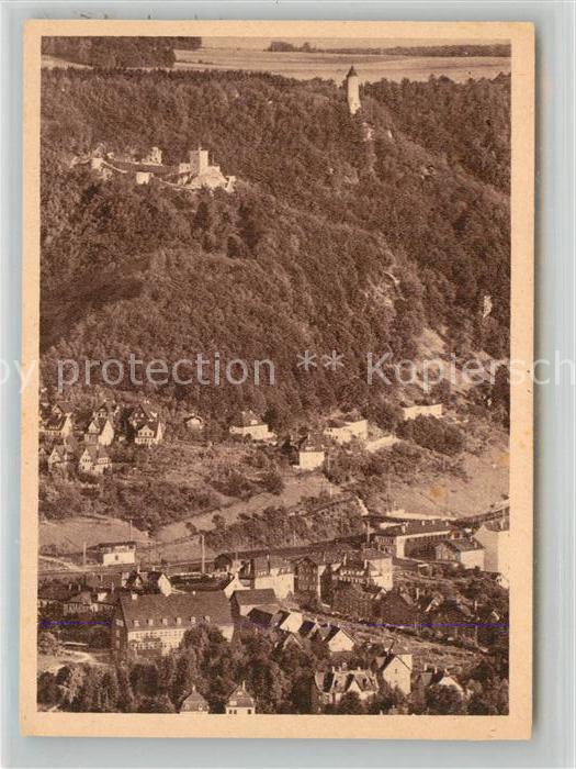 AK / Ansichtskarte Geislingen_Steige Burgruine Helfenstein und oedenturm Fliegeraufnahme Geislingen_Steige 0