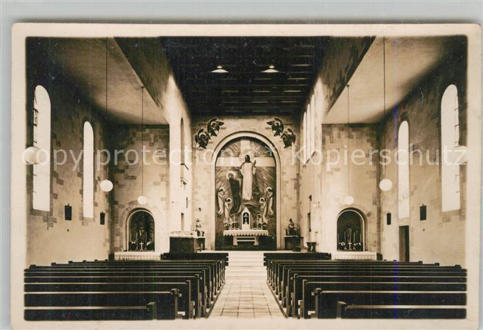AK / Ansichtskarte Reichenbach_Donzdorf Kirche Hochaltar Kunstmaler Karl M. Lechner Reichenbach Donzdorf
